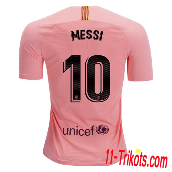 Spielername | Neues FC Barcelona Third Trikot 10 MESSI Orange 2018-19 Kurzarm Herren