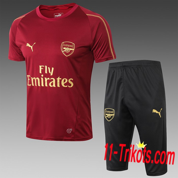 Neuestes Fussball Pre Match Arsenal Trainingstrikot + 3/4 Hose Rot 2019 2020 | 11-trikots