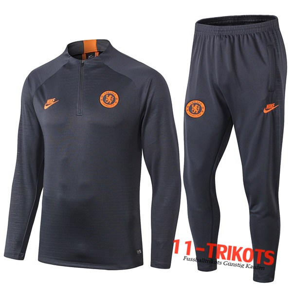 Neuestes Fussball Chelsea Trainingsanzug Orange 2019 2020 | 11-trikots
