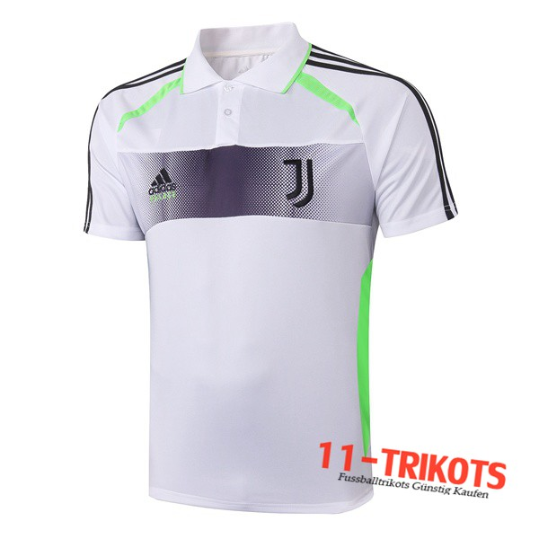 Neuestes Fussball Juventus Adidas × Palace Collaborate Edition Poloshirt Weiß 2019/2020