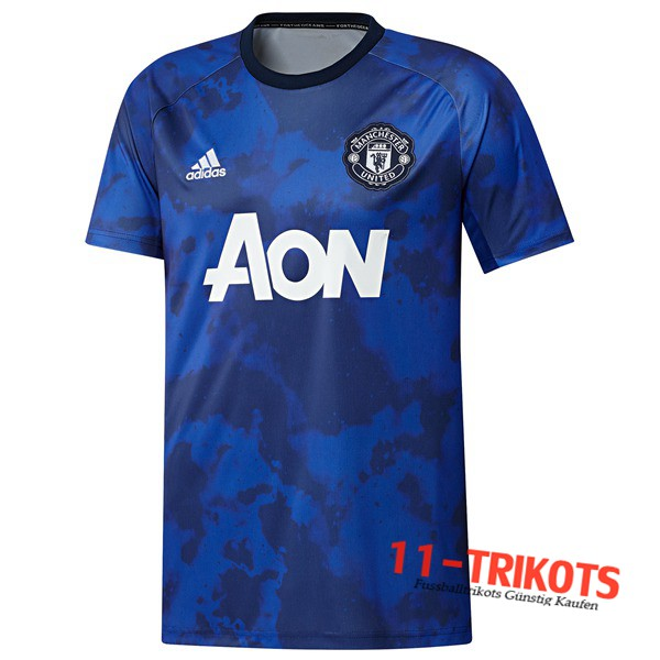 Neuestes Fussball Manchester United Trainingstrikot Blue 2019 2020 | 11-trikots
