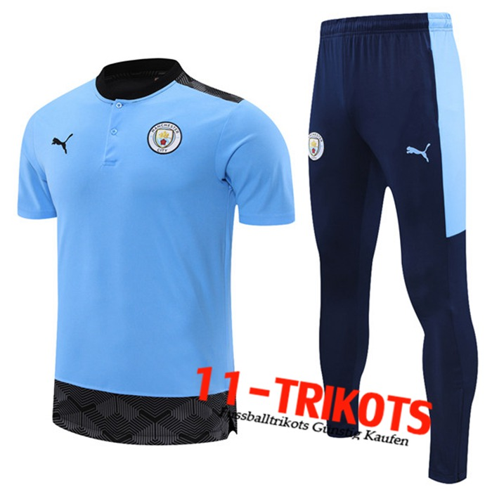 Manchester City Trainingstrikot + Hose Blau 2021/2022