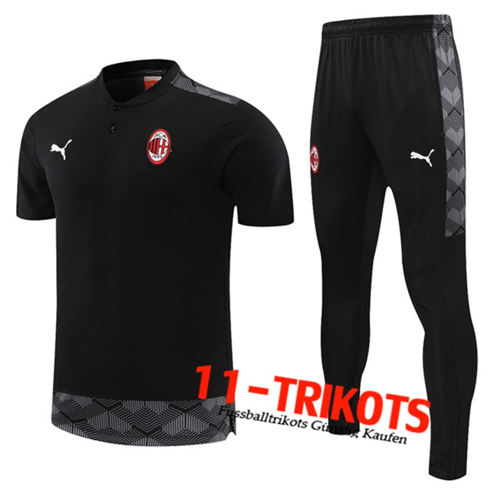 AC Milan Trainingstrikot + Hose Schwarz 2021/2022