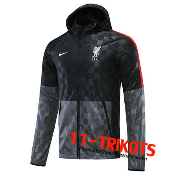 FC Liverpool Trainingsjacke Windbreaker Schwarz/Grau 2020/2021