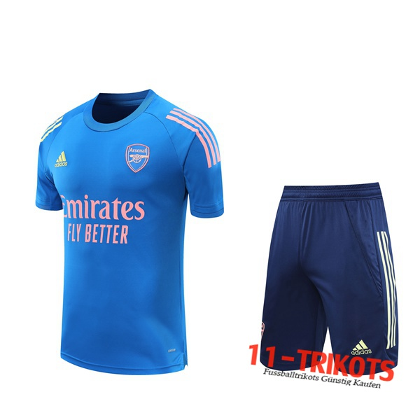 Neuestes Arsenal Trainingstrikot + Shorts Blau 2020/2021 | 11-trikots