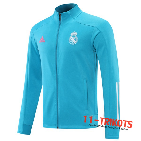 Neuestes Real Madrid Trainingsjacke Blau 2020/2021 | 11-Trikots