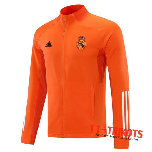 Neuestes Real Madrid Trainingsjacke Orange 2020/2021 | 11-Trikots