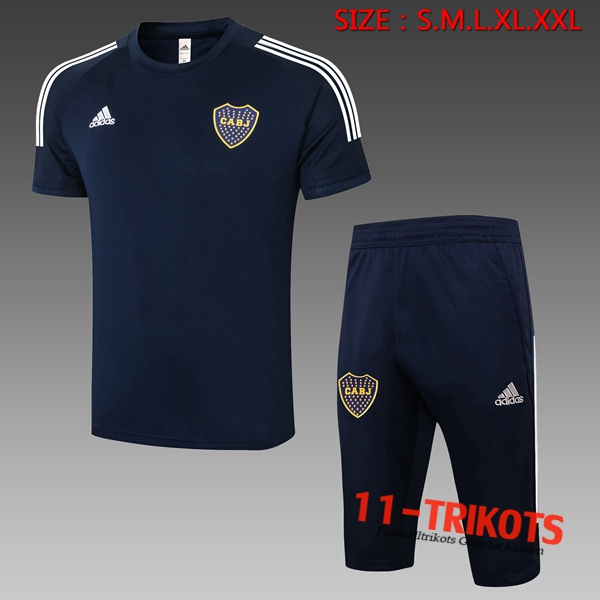 Boca Juniors Trainingstrikot + Hose 3/4 Blau Royal 2020/2021