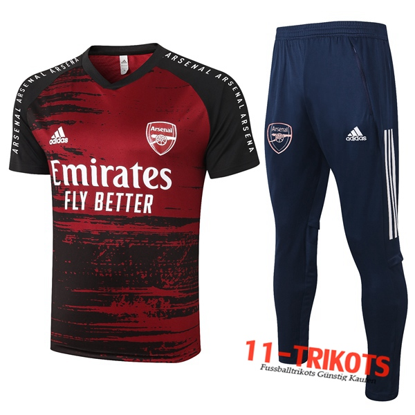 Arsenal Trainingstrikot + Hose Rot 2020/2021