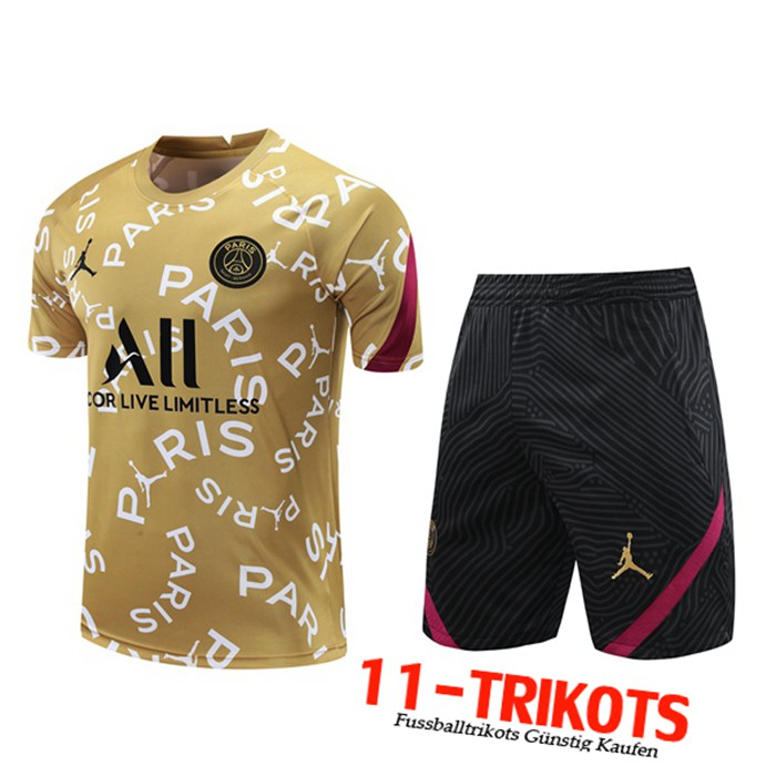Neuestes PSG Trainingstrikot + Shorts Gelb 2020/2021 | 11-Trikots