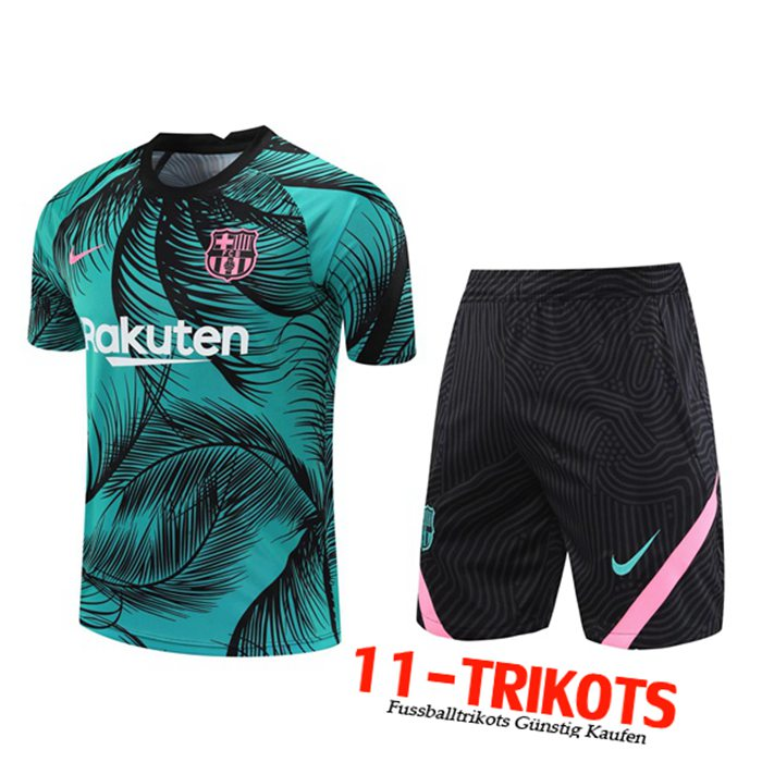 Neuestes FC Barcelona Trainingstrikot + Shorts Blau 2020/2021 | 11-Trikots
