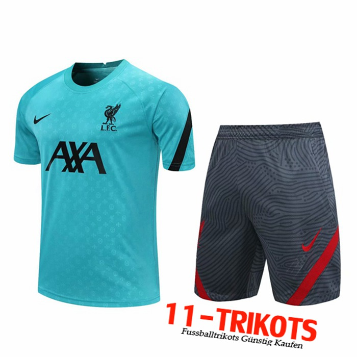 Neuestes FC Liverpool Trainingstrikot + Shorts Blau 2020/2021 | 11-Trikots