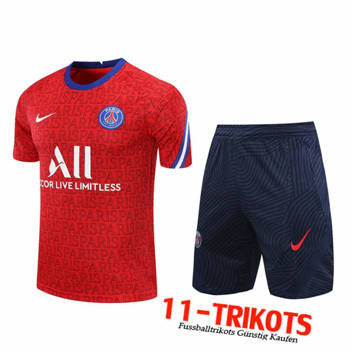 Neuestes PSG Trainingstrikot + Shorts Rot 2020/2021 | 11-Trikots