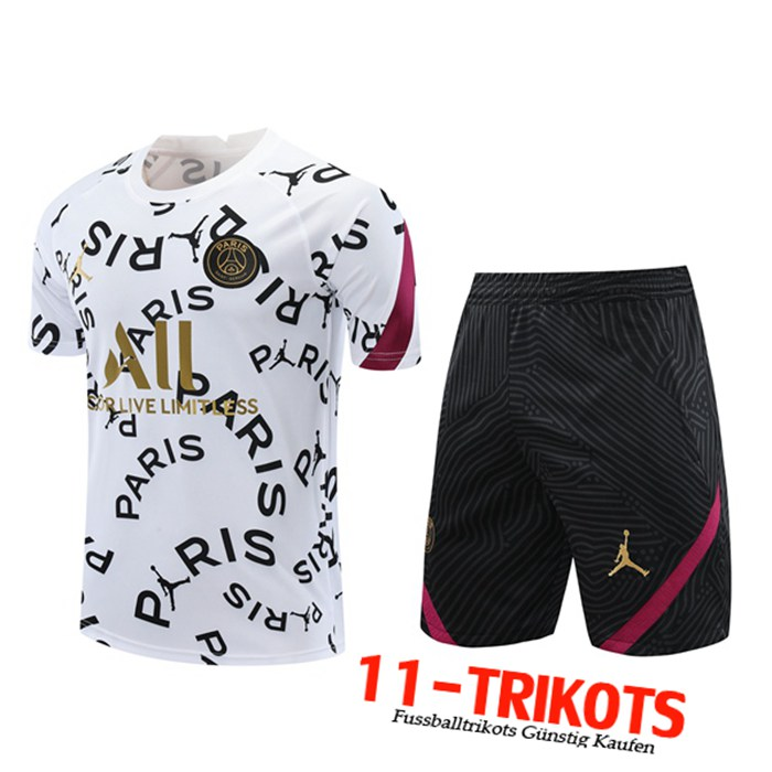 Neuestes PSG Trainingstrikot + Shorts Weiß 2020/2021 | 11-Trikots