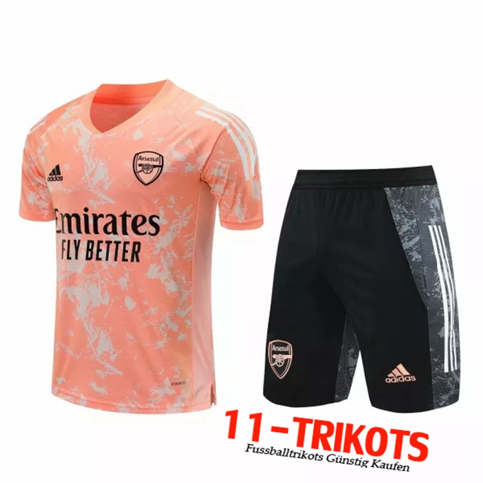 Neuestes Arsenal Trainingstrikot + Hose Rot 2020/2021 | 11-Trikots