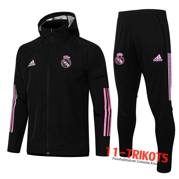 Real Madrid Trainingsanzug Windjacke Schwarz/Rose 2020 2021 | 11-trikots