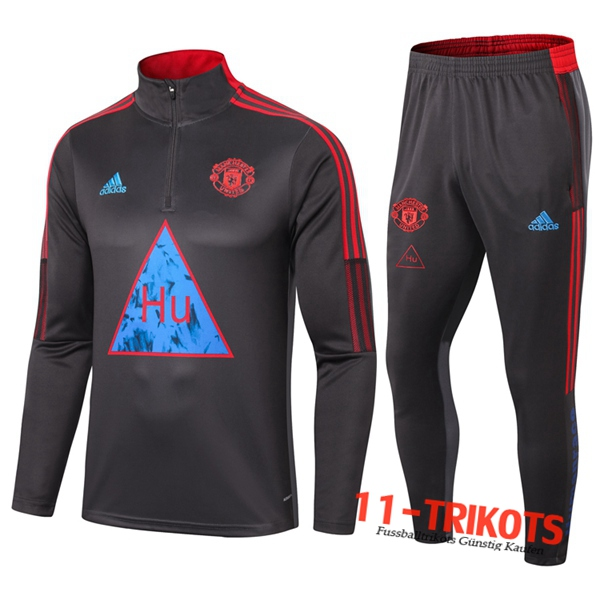 Manchester United Trainingsanzug Joint Edition Grau Dunkel 2020 2021 | 11-trikots