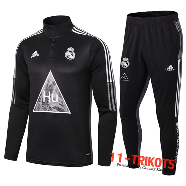 Real Madrid Trainingsanzug Joint Edition Schwarz 2020 2021 | 11-trikots