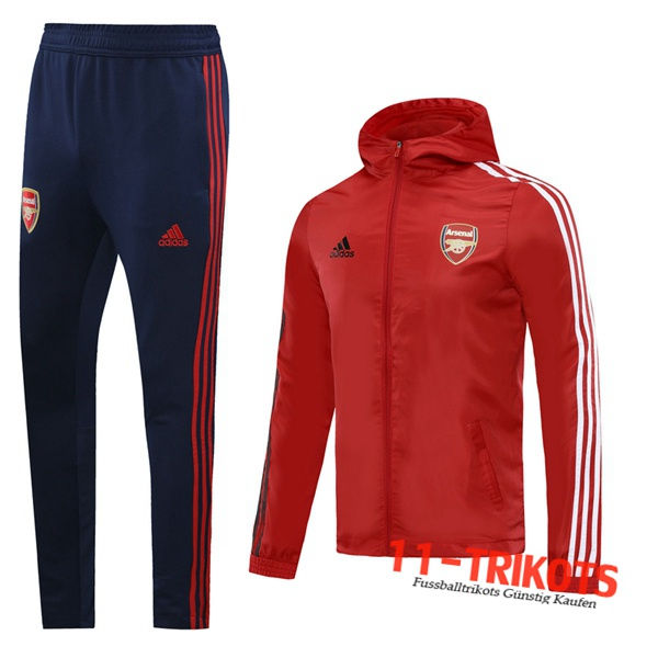 Arsenal Trainingsanzug Windjacke Rot 2020 2021 | 11-trikots