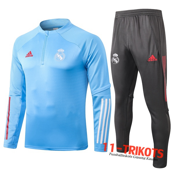 Neuestes Fussball Real Madrid Trainingsanzug Blau 2020 2021 | 11-trikots