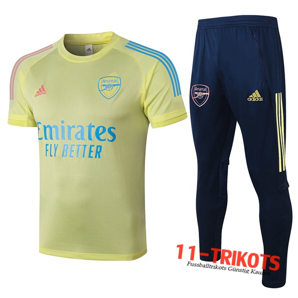 Arsenal Trainingstrikot + Hose Gelb 2020/2021