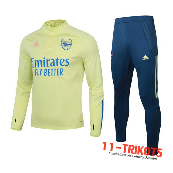 Arsenal Trainingsanzug Gelb 2020 2021 | 11-trikots