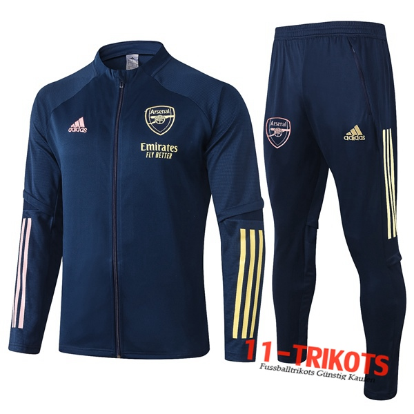 Arsenal Trainingsanzug (Jacke) Blau Royal 2020 2021 | 11-trikots