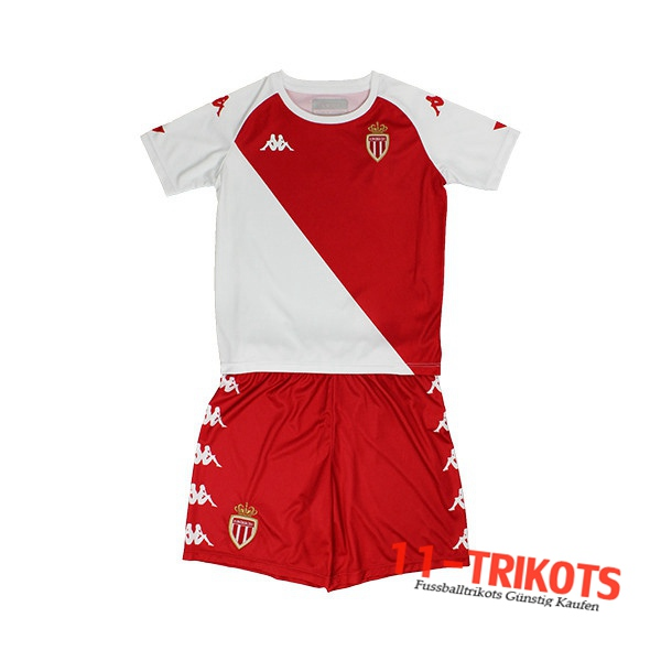 Fussball AS Monaco Kinder Heimtrikot 2020 2021 | 11-trikots