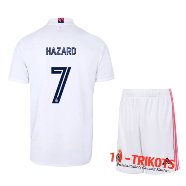 Fussball Real Madrid (HAZARD 7) Kinder Heimtrikot 2020 2021 | 11-trikots