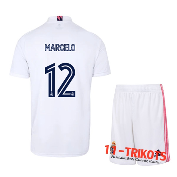 Fussball Real Madrid (MARCELO 12) Kinder Heimtrikot 2020 2021 | 11-trikots