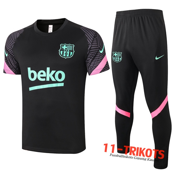 FC Barcelona Trainingstrikot + Hose Schwarz 2020/2021