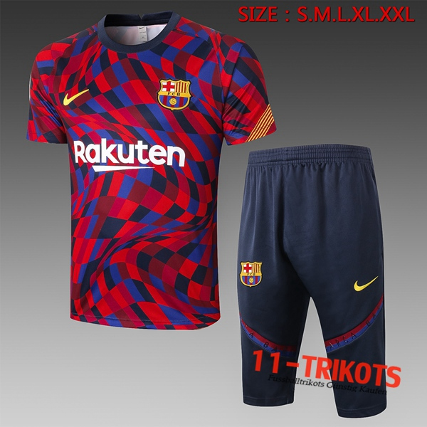 FC Barcelona Trainingstrikot + Hose 3/4 Rot 2020/2021
