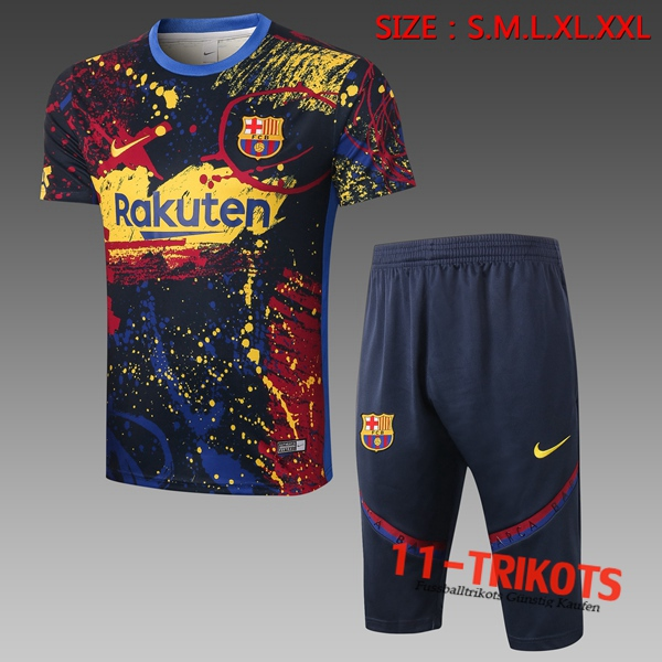 FC Barcelona Trainingstrikot + Hose 3/4 Blau 2020/2021