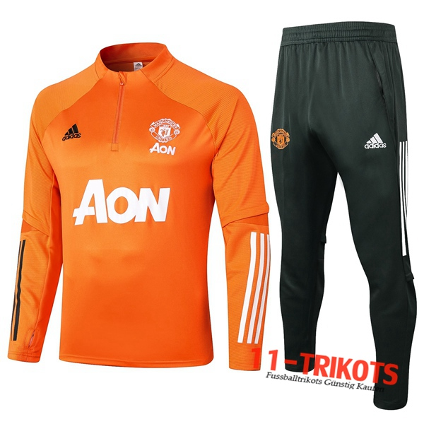 Manchester United Trainingsanzug Orange 2020 2021 | 11-trikots