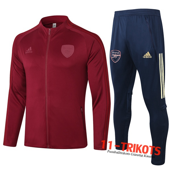 Arsenal Trainingsanzug (Jacke) Rot 2020 2021 | 11-trikots