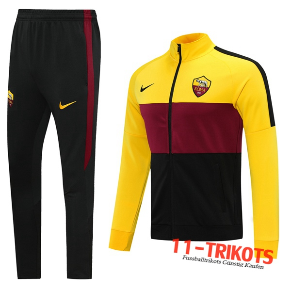 AS Roma Trainingsanzug (Jacke) Gelb 2020 2021 | 11-trikots