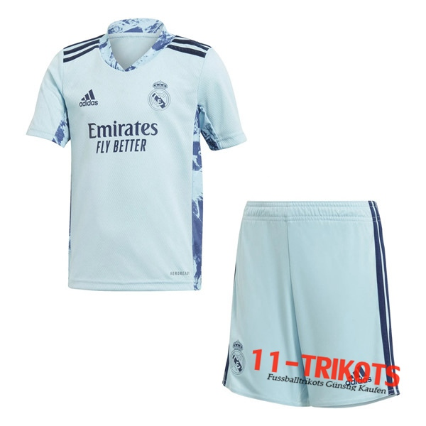 Fussball Real Madrid Kinder Torwart Blau 2020 2021 | 11-trikots