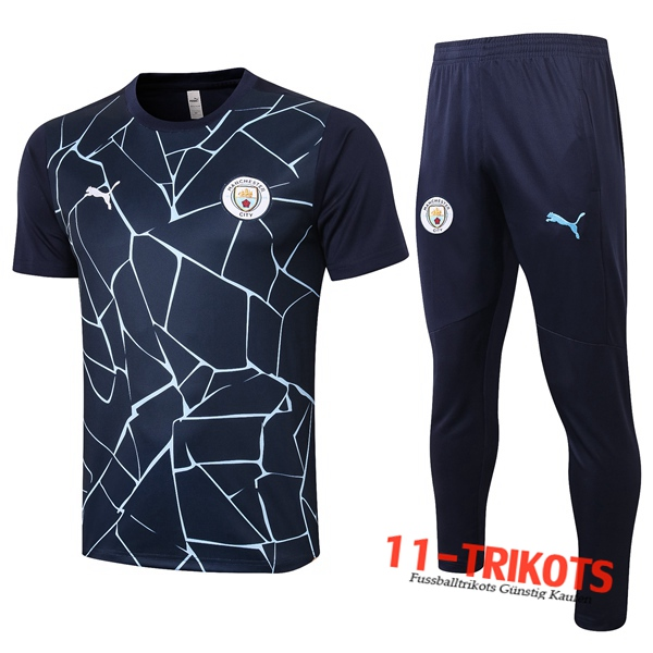 Manchester City Trainingstrikot + Hose Blau Royal 2020/2021