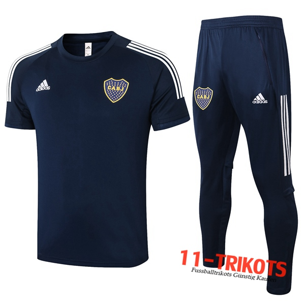 Boca Juniors Trainingstrikot + Hose Blau Royal 2020/2021