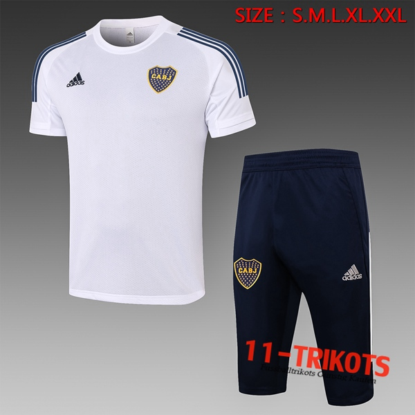 Boca Juniors Trainingstrikot + Hose 3/4 Weiß 2020/2021